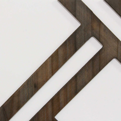 Image of Rustic Geometric Wood Decor Set - Hen & Tilly