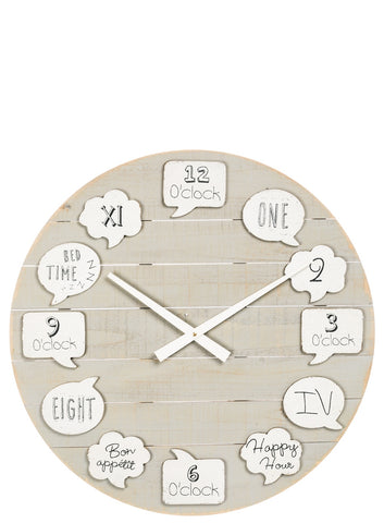 Image of Bubble Thoughts Happy Wall Clock - Hen & Tilly Farmhouse Sinks