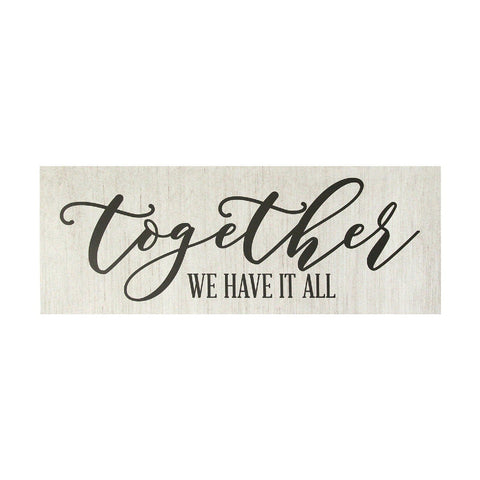 "Image of ""Together We Have It All"" Canvas Wall Art - Hen & Tilly Farmhouse Sinks"