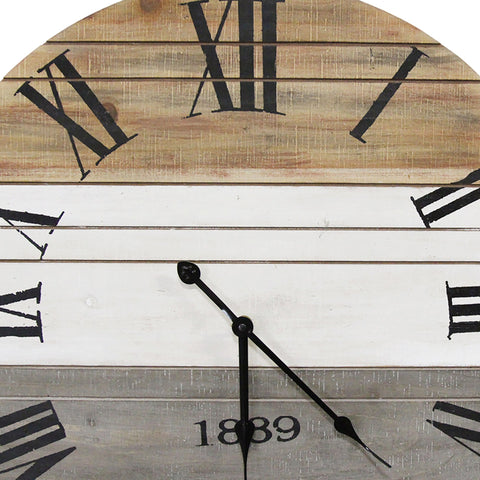 Image of Distressed Multi-Color Roman Numeral Wall Clock - Hen & Tilly Farmhouse Sinks