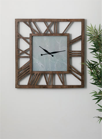 Image of Dark Wood Blank Face Wall Clock - Hen & Tilly Farmhouse Sinks