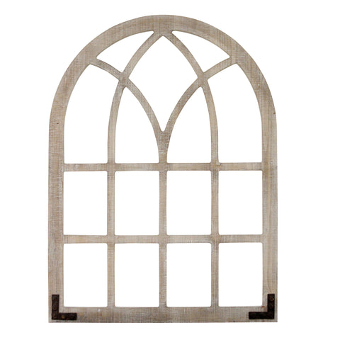 Image of Distressed Arch Window with Metal Accents - Hen & Tilly Farmhouse Sinks