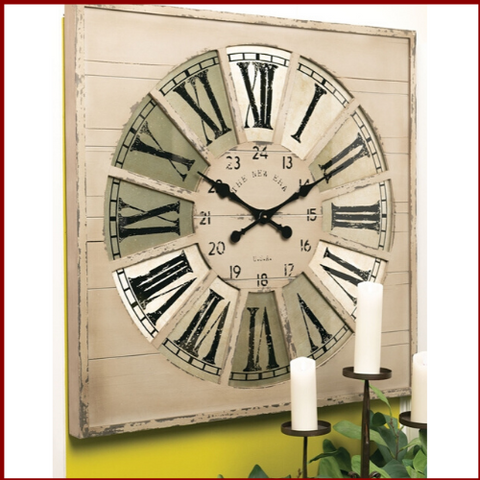 Image of Rustic Charm Roman Numeral Wall Clock - Hen & Tilly Farmhouse Sinks
