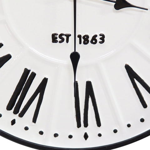 "Image of Classic ""Old Town"" White Wall Clock - Hen & Tilly Farmhouse Sinks"