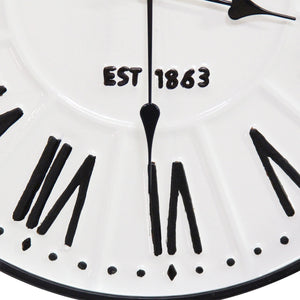"Classic ""Old Town"" White Wall Clock - Hen & Tilly"