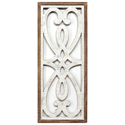 Image of Hearts and Fleur Decorative Wood Panel - Hen & Tilly Farmhouse Sinks
