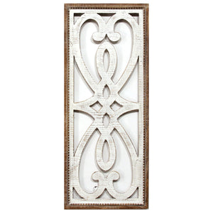 Hearts and Fleur Decorative Wood Panel - Hen & Tilly Farmhouse Sinks