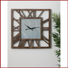 Dark Wood Blank Face Wall Clock - Hen & Tilly Farmhouse Sinks