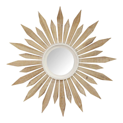 Image of Taylor Wooden Starburst Wall Mirror - Hen & Tilly Farmhouse Sinks