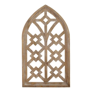 Rustic Wooden Cathedral Arch Wall Decor - Hen & Tilly Farmhouse Sinks