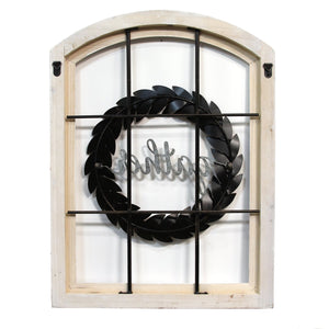 """Gather"" Window and Wreath Wall Decor - Hen & Tilly"