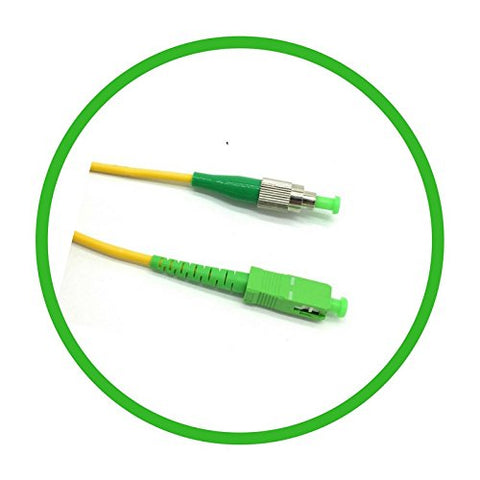 1M Single-Mode SIMPLEX FC/APC to SC/APC Patch Cable