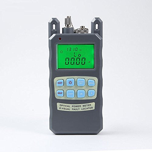 All-In-One Handheld Optical Power Meter with 10mW Visual Fault Locator & Fiber Optic Laser Cable Tester