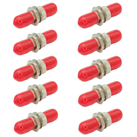 ST to ST - ST Fiber Optic Coupler - 10 Pack - Easily Connect ST Fiber Cables.