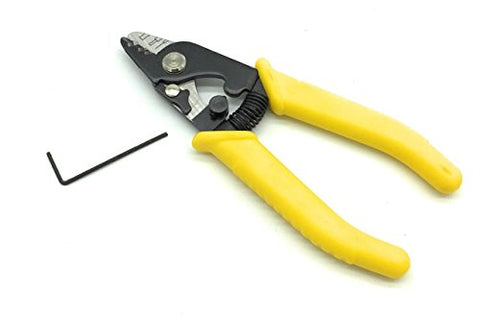 "3 Hole Fiber Optic Stripping Tool - 6"" handle - Includes Hex Key for fine adjustments."