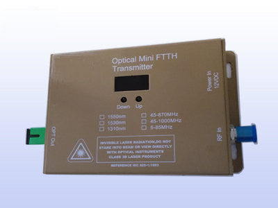10mW FTTX Wall Mount 1310nm CATV Fiber Mini Transmitter