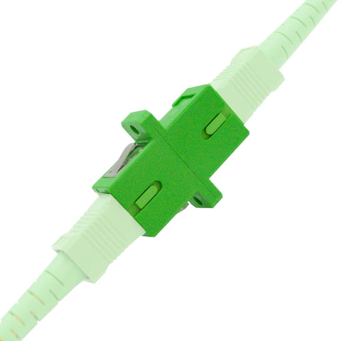 SC/APC to SC/APC - SC/APC Fiber Couplers - 10 Pack - Snap connect Fiber cables.