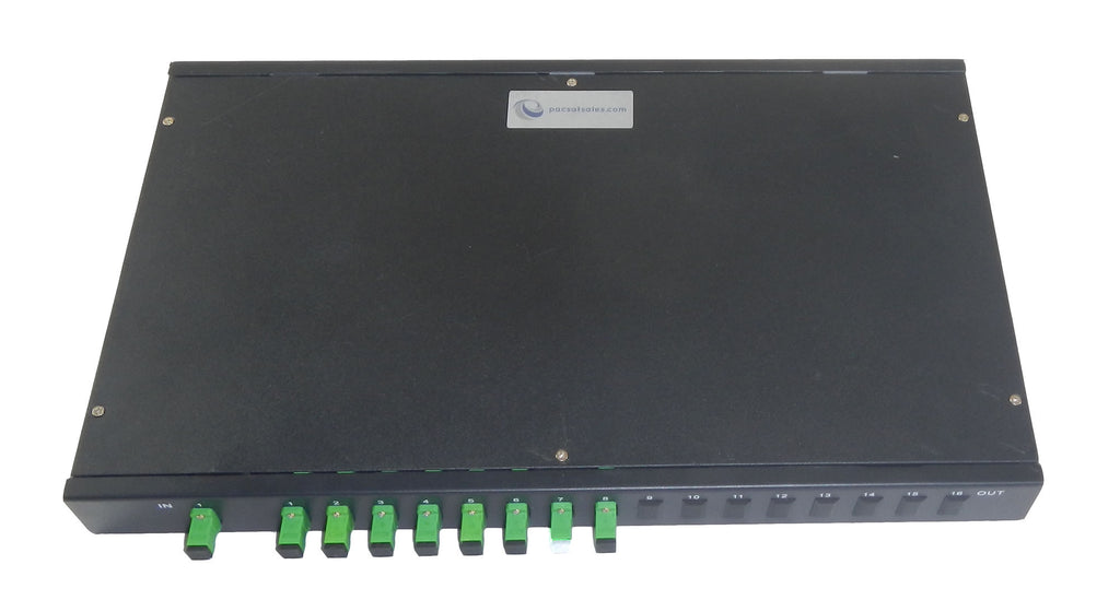 1 x 8 Rack Mount PLC Single-Mode Optical Fiber Splitter