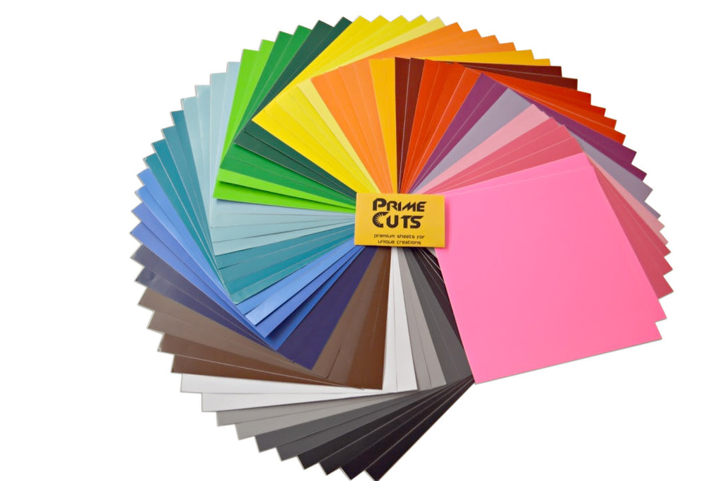 Silhouette Cameo Permanent Adhesive Backed Vinyl Sheets by PrimeCuts USA and Other Craft Cutters 40 Vinyl Sheets 12 x 12-40 Assorted Color Sheets for Cricut