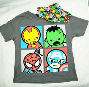 Little Avengers Face Mask and T Shirt Set