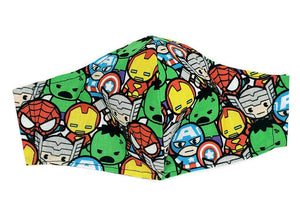 Little Avengers Face Mask w/ Filter Pocket