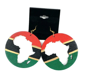 Africa Cutout Earrings Tri Color