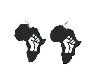 Africa Fist Cutout Earrings