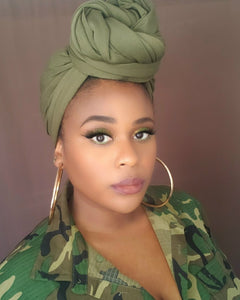 Olive Green Head Wrap