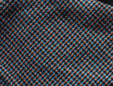 Black Micro-Checked Textured Napkin