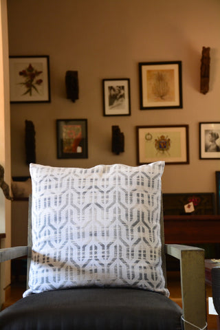 White Textured Cotton Cushion Cover