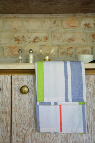 Blue & Green Striped Kitchen Towel
