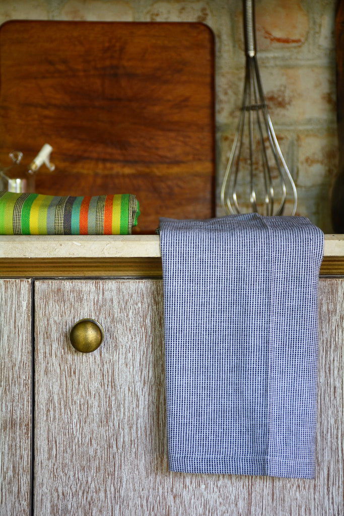 Blue U0026 White Thin Striped Kitchen Towel