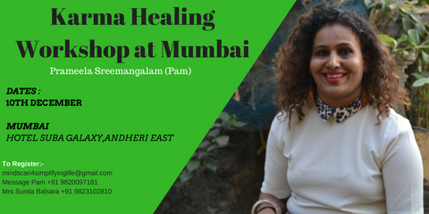 Karma Healing Workshop in Mumbai - 10th Dec 2017