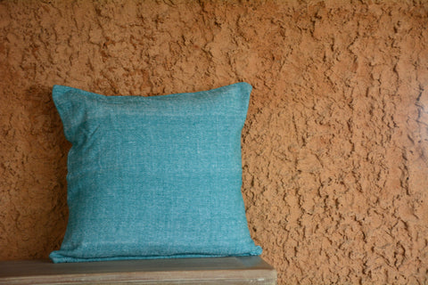 Green Chambray Cushion Cover