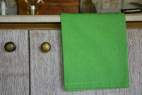 Green Chambray Kitchen Towel