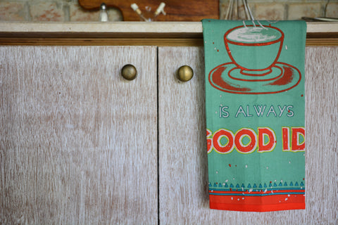 Green Printed Kitchen Towel