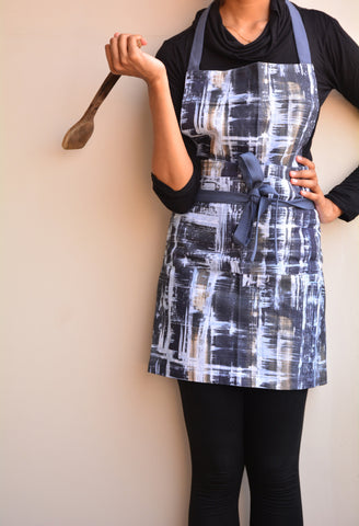 Hikki Painterly Printed Cotton Apron