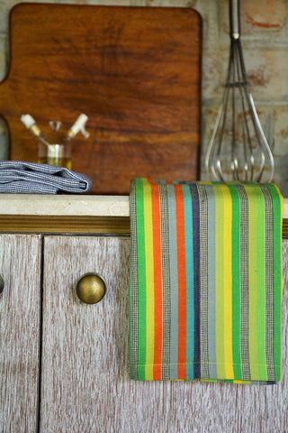 Multi Colored Dobby Striped Kitchen Towel