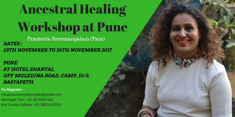 Pune Ancestral Workshop 23-26 November 2017