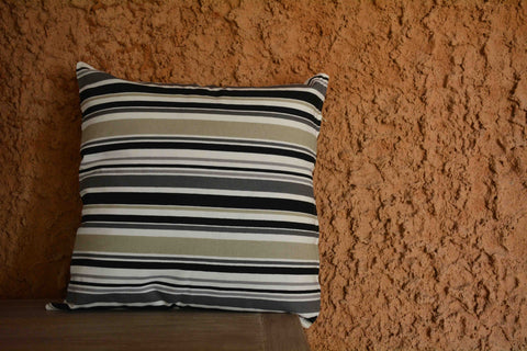 Striped Printed Cotton Cushion Cover