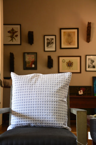 Textured Woven Cotton Cushion Cover