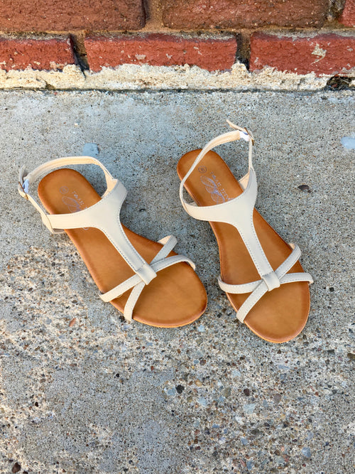 Love Image Beige Sandals