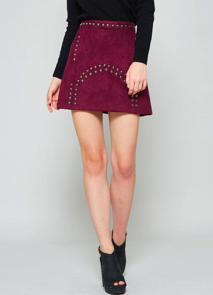 Off Broadway Suede Skirt