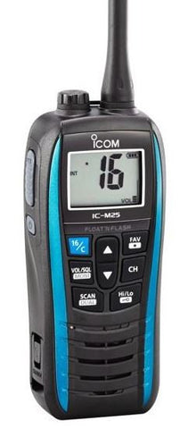 Icom IC-M25 Marine Floating VHF Radio - Blue - Radio-Shop UK