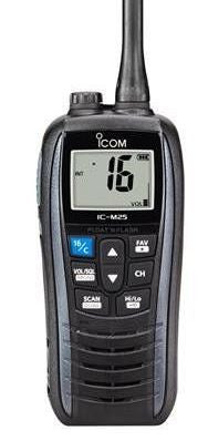Icom IC-M25 Marine Floating VHF Radio - Grey - Radio-Shop UK