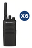 6 Pack Motorola Xt420 (With Chargers) License Free Radio - Web Special Licence Radios