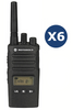 6 Pack Motorola Xt460 (With Chargers) License Free Radio - Web Special Licence Radios
