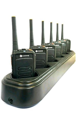 Package Deal - 6 X Codine Dp-140 Licence Free Digital Two Way Radio Radios