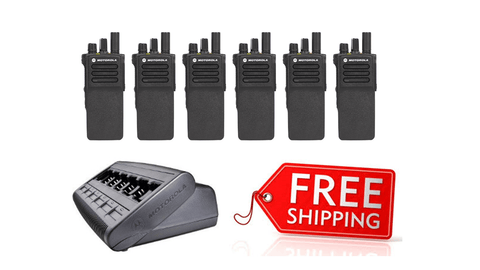 Package Deal - 6 X Motorola DP4400e Digital Two Way Radio_Radio-Shop UK
