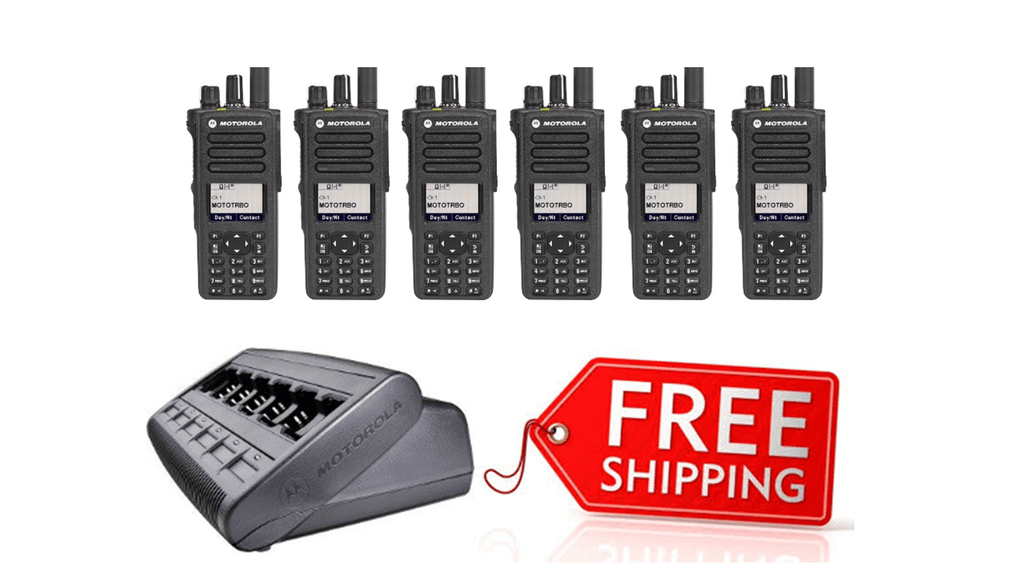 Package Deal - 6 X Motorola DP4800e Digital Two Way Radio_Radio-Shop UK